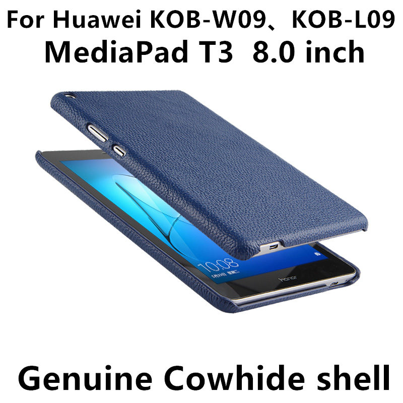 Case Cover Cowhide For Huawei Mediapad T3 Sleeve Honor Play Tablet2 8 Protective Protector Genuine Leather KOB-W09 KOB-L09 Shell