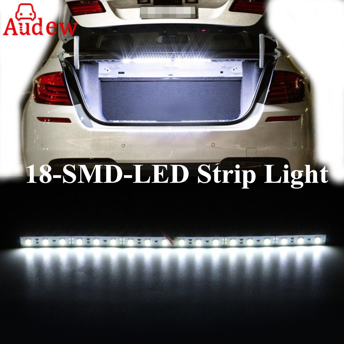 1pcs 30cm white 18 led light bar smd car led strip light for car trunk cargo area interior. Black Bedroom Furniture Sets. Home Design Ideas