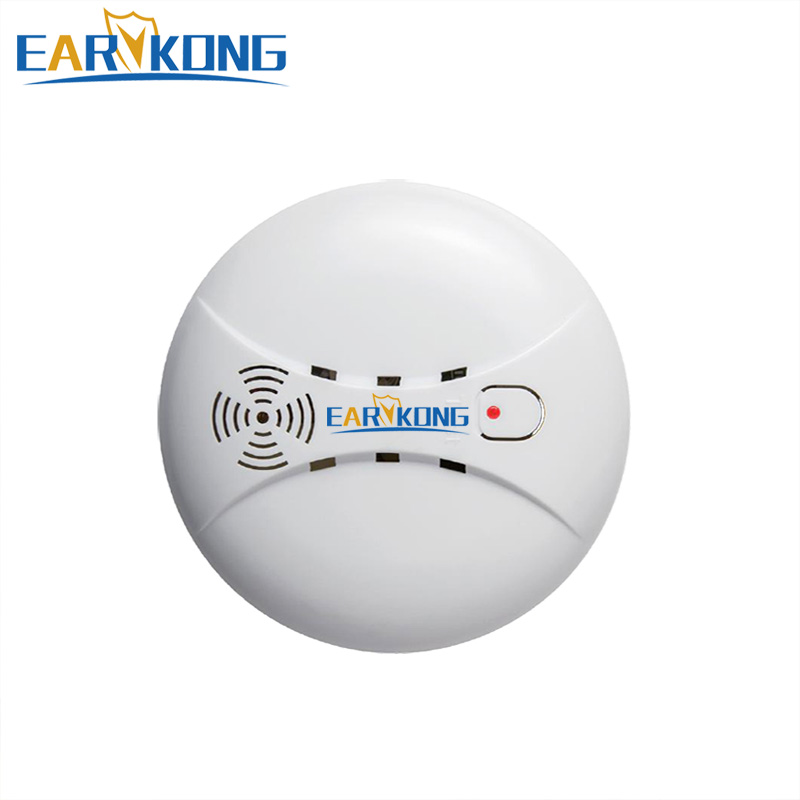 433MHz Wireless Smoke Detector, Built-in transmit antenna, Support G90B / KR-G18 / KR-8518G GSM Alarm System, Free Shipping,