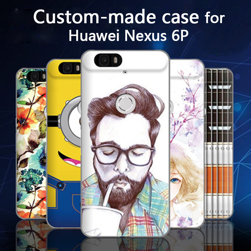3D cartoon custom-made painted back cover case for Huawei Nexus 6P