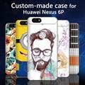 Para huawei nexus 6 p honor 8 v9 p9 plus mate 9 pro case, 3d de dibujos animados por encargo pintado contraportada case para huawei honor8 Mate9