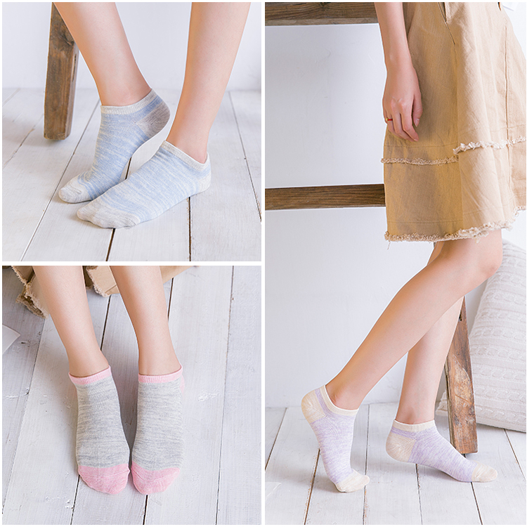New Arrival short socks women harajuku Sock Casual Cute Ankle Low Cut Cotton Socks invisible chaussette femme 5pieces/lot 7