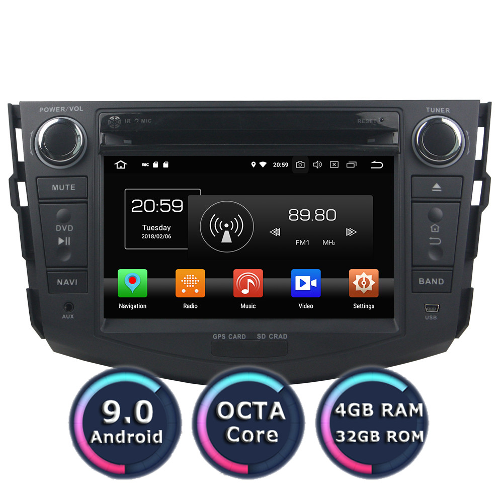 Roadlover Android 9.0 <font><b>Car</b></font> PC <font><b>Multimedia</b></font> DVD Player For <font><b>Toyota</b></font> <font><b>RAV4</b></font> <font><b>2006</b></font>-2012 Stereo GPS Navigation Automagnitol Double Din Radio image