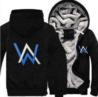 2018 New DJ Alan Walker Stars printed Men's Warm Fleet Hoodies autumn clothes sweatshirts men fashion hoodie streetwear Jacket
