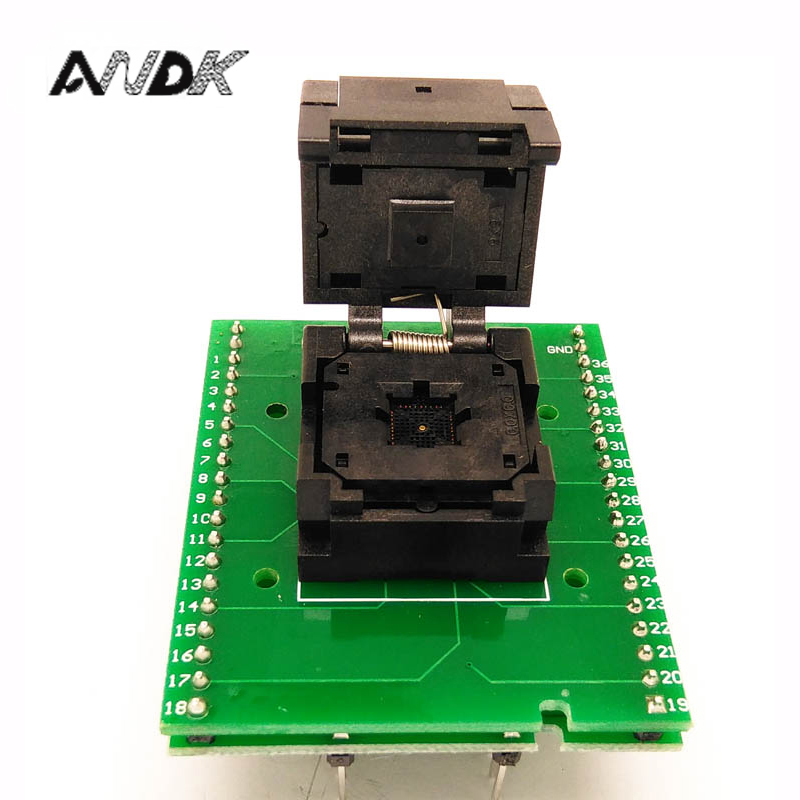 QFN36 MLF36 WLCSP36 to DIP36 Programming Adapter Pin Pitch 0.5mm IC Body Size 6x6m IC550-0364-016-GTest adapter SMT Test Socket