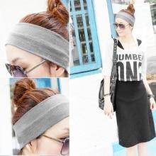 2Pcs Women Yoga Fitness Running Cotton Elastic Headband Hair Strap B2C Shop