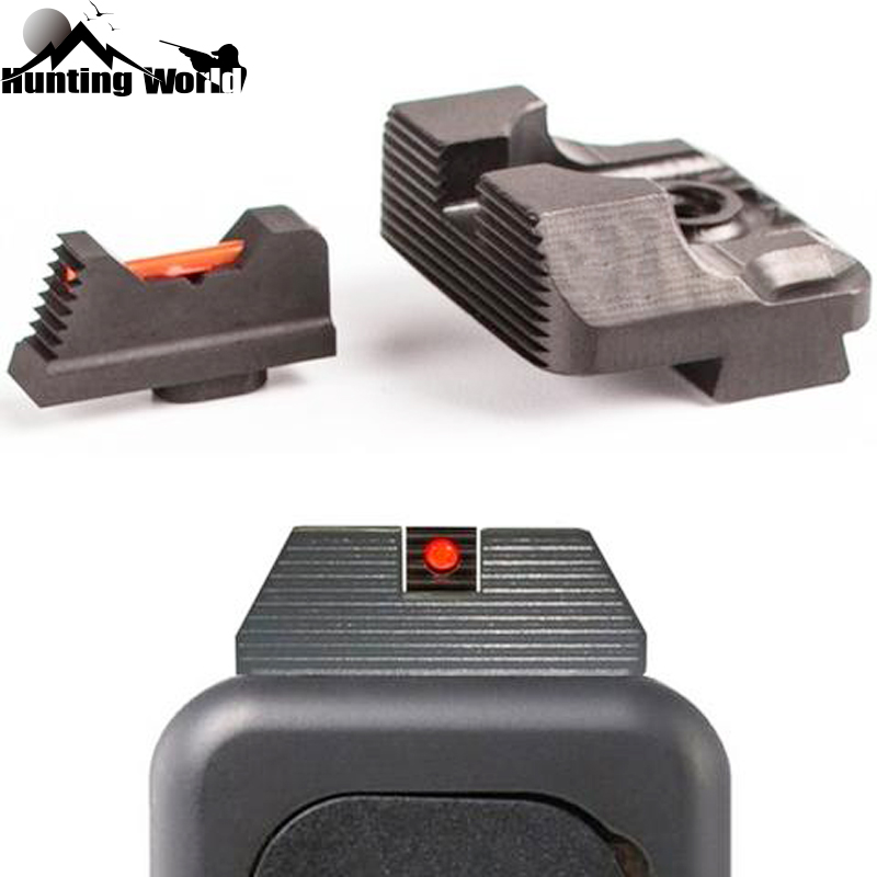Tactical .230 Fiber Optic Front And Rear Sight Set  Combat Glock Sight V3 Fits Glock Gen 3 And 4models For Hunting Accessories