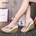 Beach female summer funny adult Slippers 2017 Wedges house Sandals Casual Platform Shoes Woman Creepers Winter Flip Flops Women