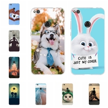 For Huawei P8 Lite 2017 P9 Case Soft TPU Honor 8 Nova Cover Cat Pattern GR3 Shell