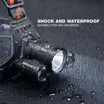 Super bright LED headlamp 3xT6 led headlight Waterproof fishing lamp 4 lighting modes camping lamp use 18650 battery 5