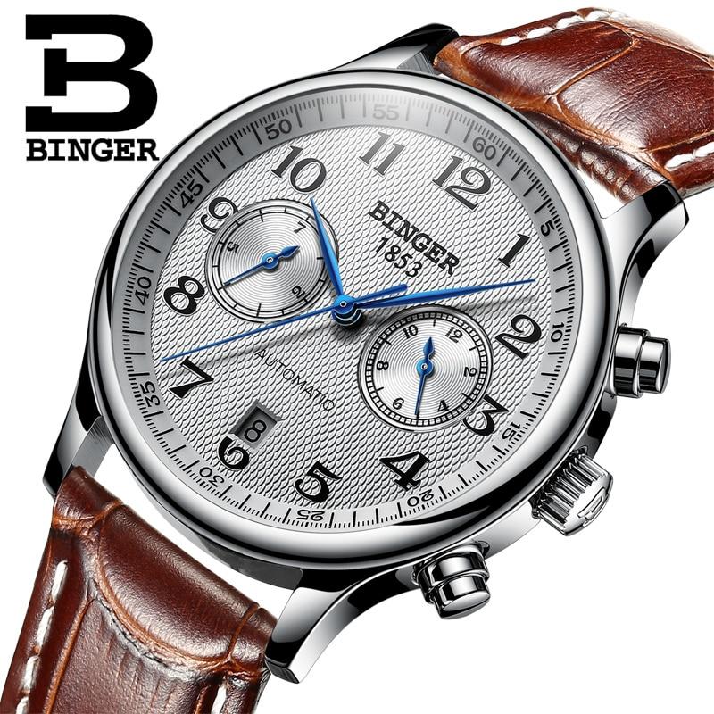 Швейцария Binger люксовый бренд мужские часы Relogio водостойкие часы Мужские автоматические механические мужские часы сапфир B-603-54