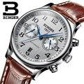 Suiza Binger de la marca de lujo de los hombres relojes reloj resistente al agua reloj hombre mecánico automático reloj de los hombres de B-603-54