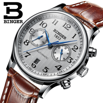 Switzerland Binger Luxury Brand Men's Watches Relogio Waterproof Watch Male Automatic Mechanical Men Watch Sapphire B-603-54