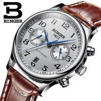 Switzerland Binger Luxury Brand Men's Watches Relogio Waterproof Watch Male Automatic Mechanical Men Watch Sapphire B 603 54