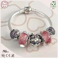 Very Nice Girl Baby Silver Jewelry Gift  925 Silver Snake Bracelet With Silver Cartoon Mouse Charm For  Baby