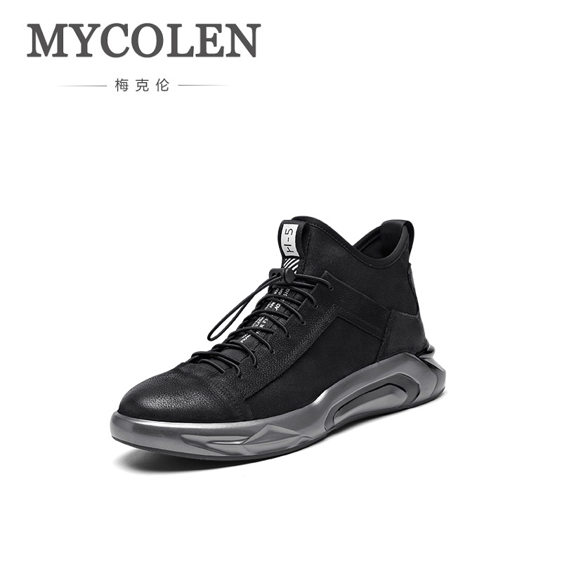 MYCOLEN New Brand Summer Men High Top Sneakers Beathable Male Casual Shoes Comfortable Elastic Band Man Shoes Sepatu Pria mycolen 2018 new summer breathable men casual shoes slip on male fashion footwear height increasing sneakers sepatu casual pria