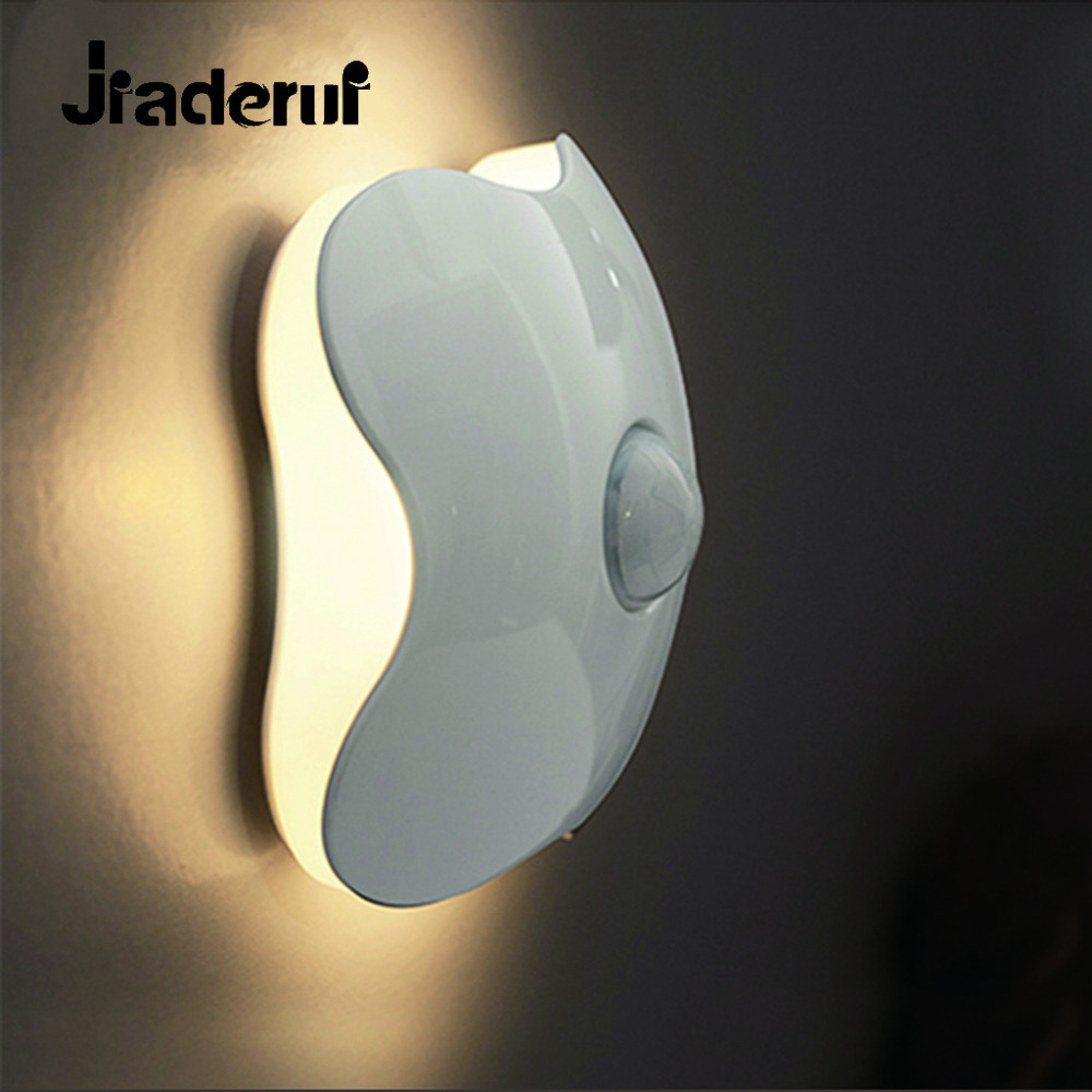 Jiaderui Motion Sensor Night Light Cordless Smart LED Wall Cabinet Light Security Closet Light Baby Room Stair Stick-on Anywhere
