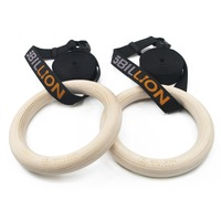 Wood Gymnastic Rings 32mm 28mm DIA Olympic Gym Rings For Home Gym Fitness Great for Your Muscle Building Ab Workout Strength
