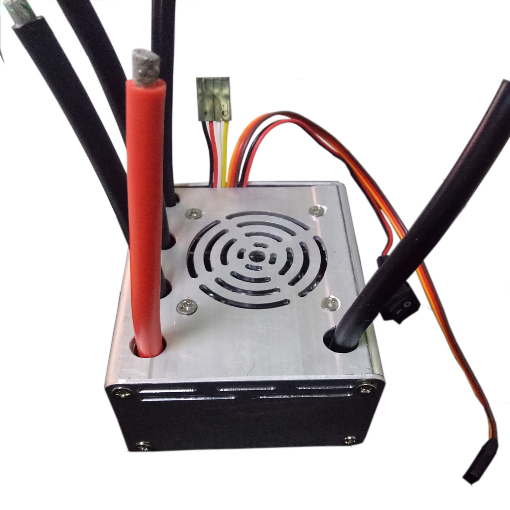 FATJAY FLIER 250A 3-12S 5V5A BEC HV ESC Brushless Speed Controller With USB Program Cable For RC 1/5 Cars