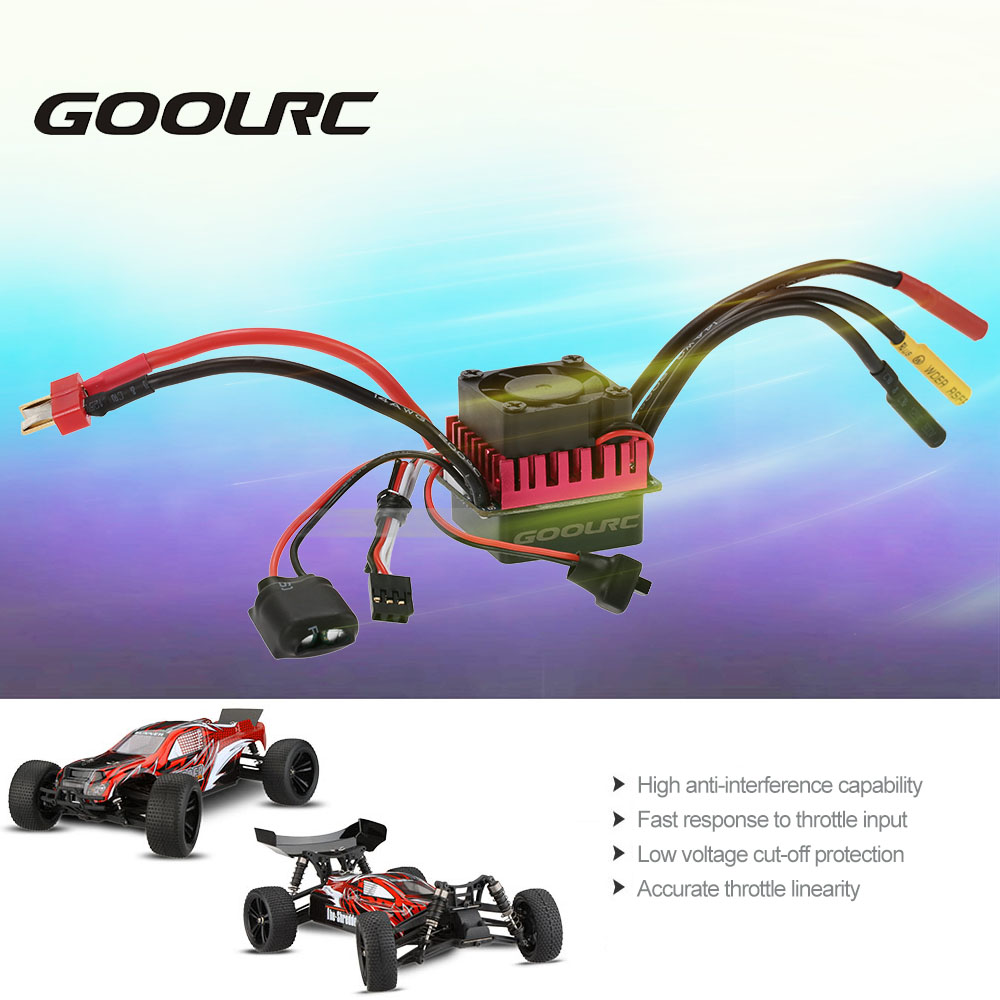 Original Goolrc S3650 4300kv Sensorless Brushless Motor 60a Esc Wiring And Program Card Combo Set For 1 10 Rc Car Truck In Parts Accessories From Toys