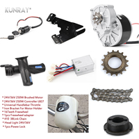 Electric 250W 24V 36V DC Motor For Bike Road Bicycle Conversion Kit Complete Without Battery Set 16inch 28inch Wheel Motor