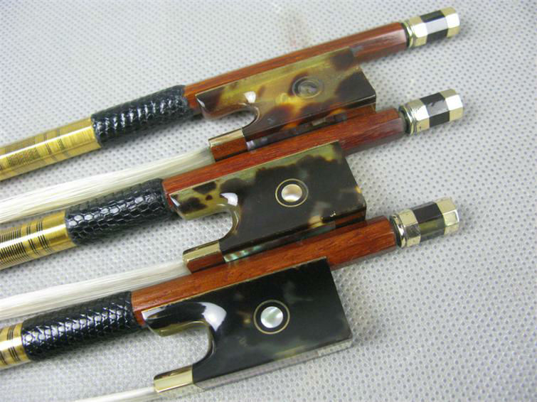 ФОТО 1 Pc AAAA+ Best Professional Brazilwood 4/4 Violin Bow Mongolia White Horsetail copper parts best balance free shipping