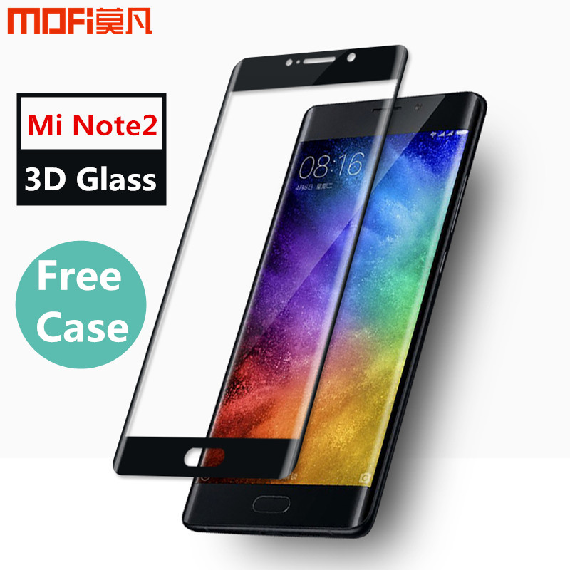 "imágenes para Xiaomi mi nota 2 xiaomi nota 2 de vidrio templado de vidrio 3D Vidrio curvado MOFi original 3D de cristal protector de pantalla de la cubierta completa 5.7"""