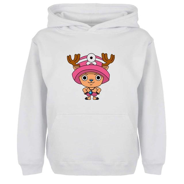 Śmieszne One Piece Tony Chopper bluzy z kapturem Unisex mężczyźni kobiety dziewczyna chłopiec japoński Cospaly fani bluza Off białe kurtki z kapturem odzież