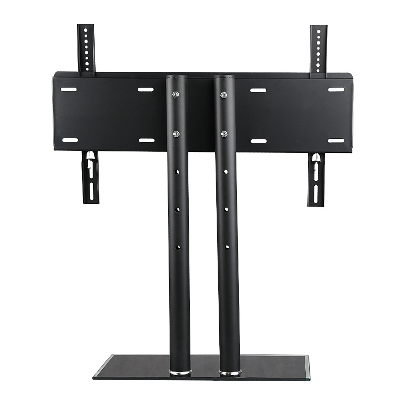 VESA standard 37-60 inch move up or down PC Monitor LCD TV double column bracket vertical Toughened glass base stent