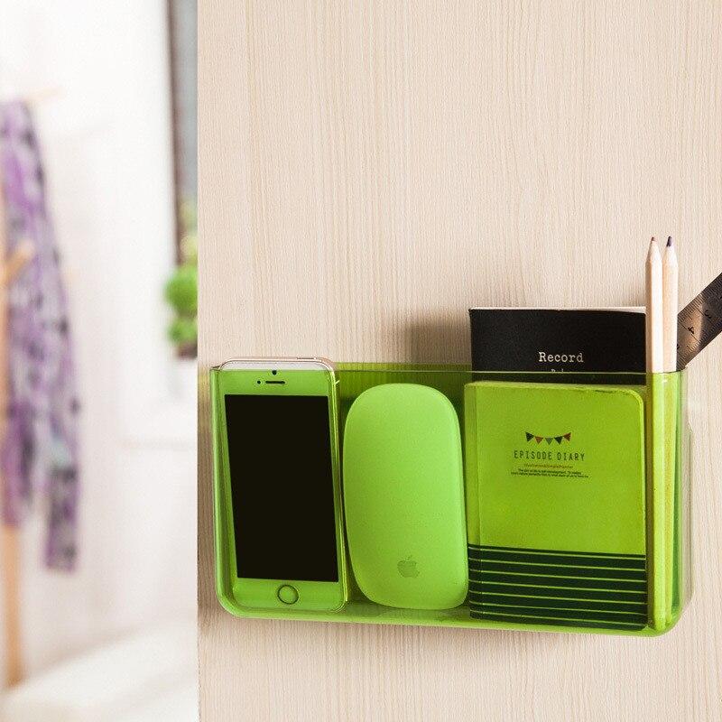 Mrosaa 1 Pc Duvar Montaj Akıllı Telefon Raf Tutucu Tipi Banyo Depolama Organizatör Raf Duş Kozmetik Rafları