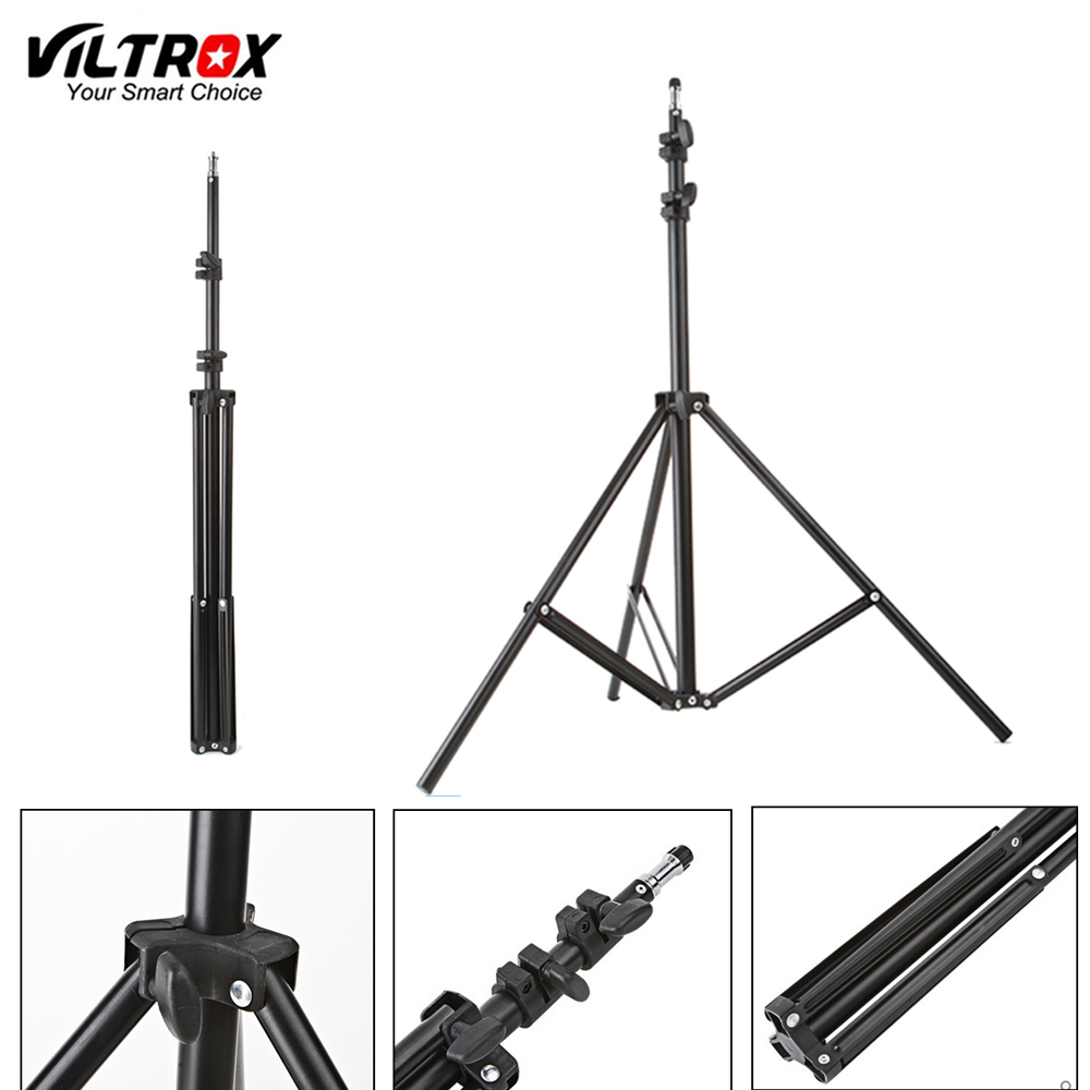 Viltrox 1.9M(74in) fold Light Stand Tripod With 1/4 Screw Head For Photo Studio Softbox Video Flash Umbrellas Reflector Lighting