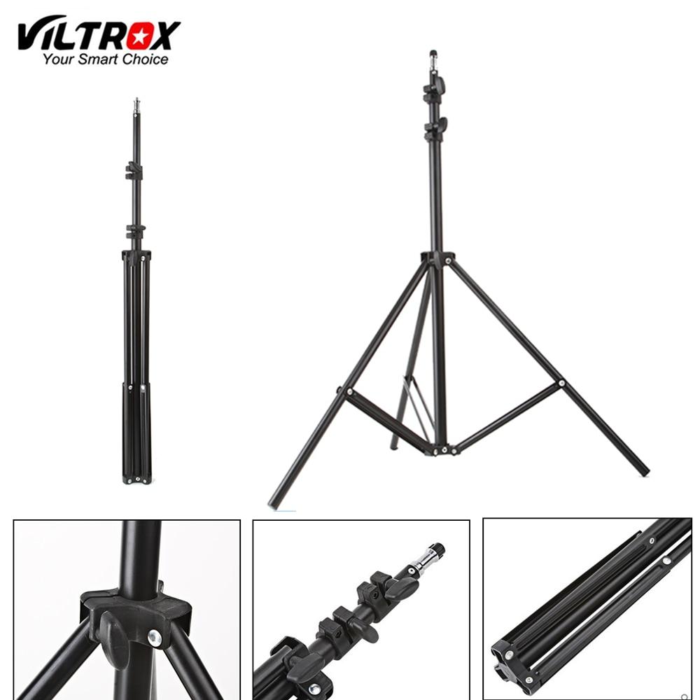 Viltrox 1/4 m (74in) trípode con soporte de luz plegable con cabezal de tornillo 1,9 para estudio fotográfico Softbox Video Flash paraguas Reflector iluminación
