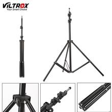 Viltrox trípode con soporte para luz plegable, 1,9 M(74in) con cabezal de tornillo 1/4 para estudio fotográfico, Softbox, paraguas de Flash de vídeo, iluminación reflectora