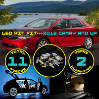 11X Car LED Interior Package Kit Map Dome Step Courtesy Trunk Cargo White Blue Red Light