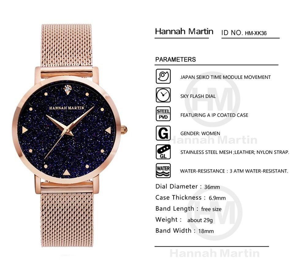 Reloj de cuarzo para mujer Flash nocturno Esfera de cielo estrellado pulsera  de cuero creativa a prueba de agua relojes elegantes de diamante para mujer  en ... a7b95332bc5b