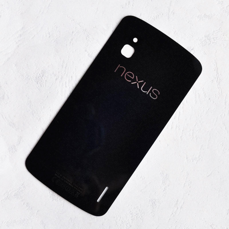 ZUCZUG New Battery Cover Rear Housing Glass Lens For LG  Google Nexus 4 E960 Back Case Glass Lens