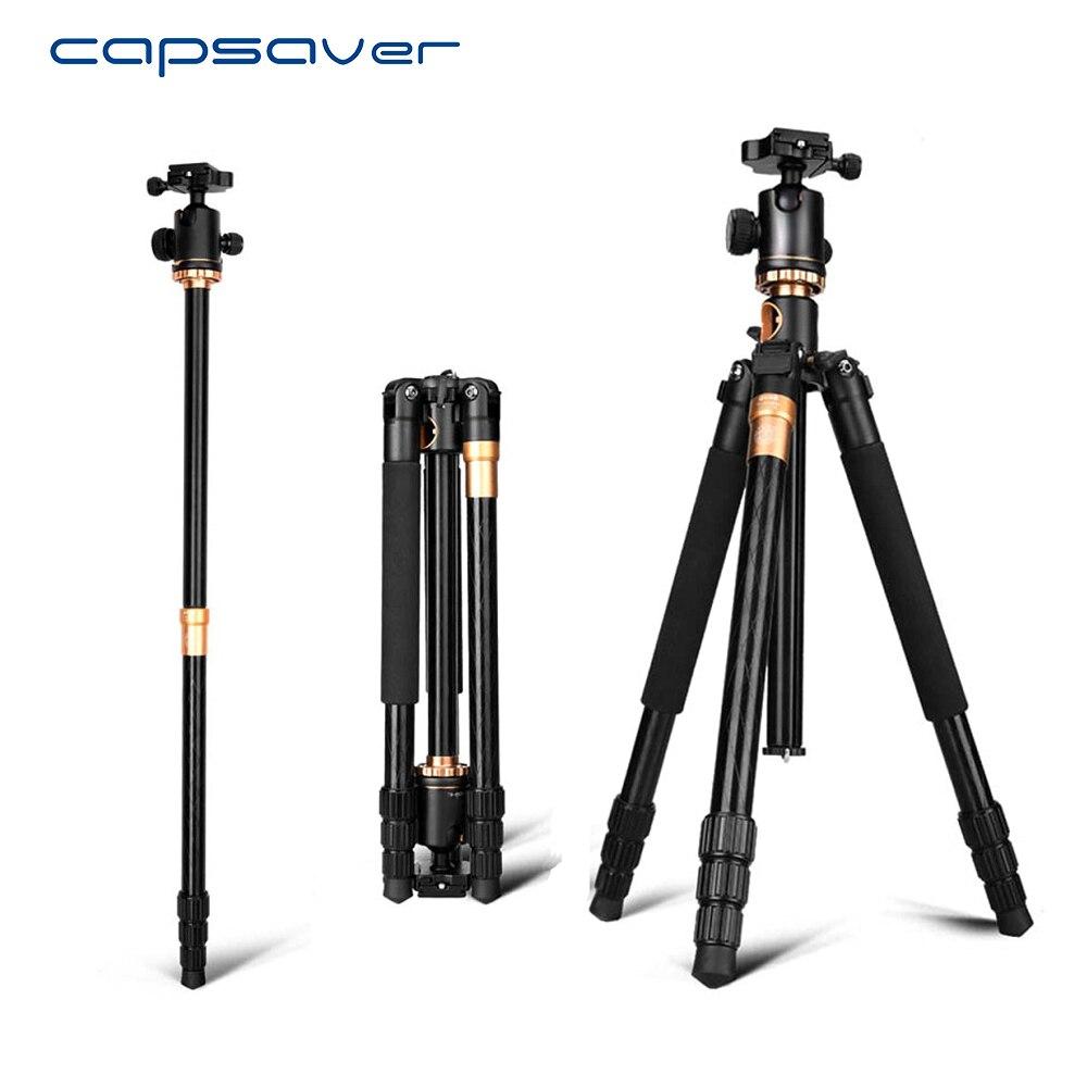 Capsaver Q999H trépied professionnel pour caméra vidéo Portable pliable monopode voyage trépied support rapide libération plaque rotule