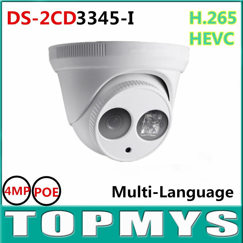 6pcs/LOT Full HD 4MP Multi-language V5.3.3 IP Camera DS-2CD3345-I POE ONVIF Support. Waterproof Camera H.265 IP Camera hik ds 2cd3345 i 1080p full hd 4mp multi language cctv camera poe ipc onvif ip camera replace ds 2cd2342wd i ds 2cd2345 i
