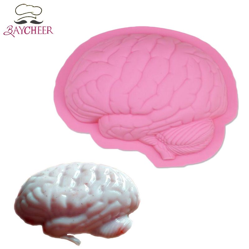 Baycheer Scary Zombie Brain Cake Baking Mold For Horror Halloween Party Prank Decoration Tools