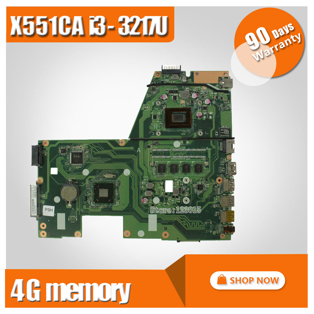Original For ASUS X551CA F551C Laptop motherboard X551CA mainboard REV2.2 cpu I3-3217u 4GB onboard 60NB0340-MB6030 100% test fiscal end aluminum fanless embedded computer with i3 3217u 6com 4g ram onboard 2 intel lan support wake on lan dual 24bit lvds
