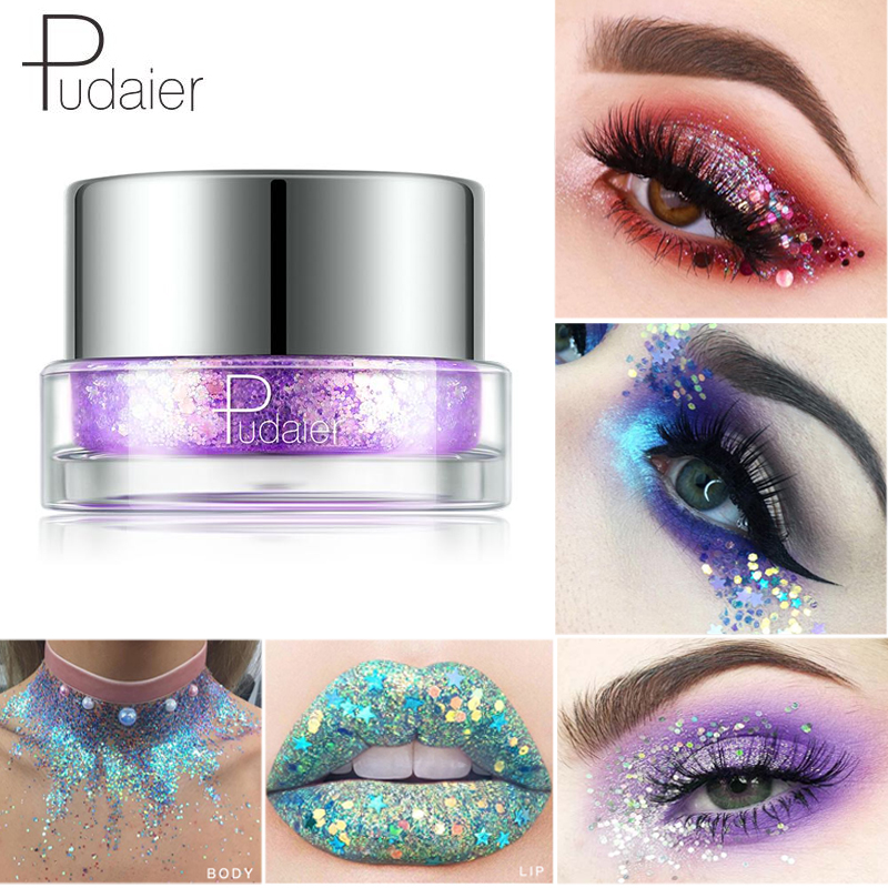 Brave Pudaier Laser Eyeshadow Sequin Glitter Powder Diamond Shimmer Sparkles Eye Shadow Makeup Face Body Shining Eye Pigment Make Up Pleasant In After-Taste Beauty & Health Eye Shadow