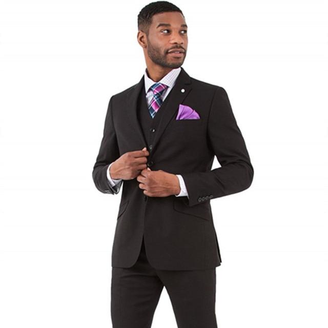 London Suit Separate Black Slim Fit men Suit Groom Wear Tuxedos Best ...