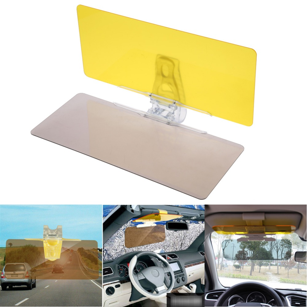 Newest Car Sun Visor Goggles Fold Flip Down UV Protect Shade Fold Flip Down Board Vehicle Clear View Dazzling Eyes Protector