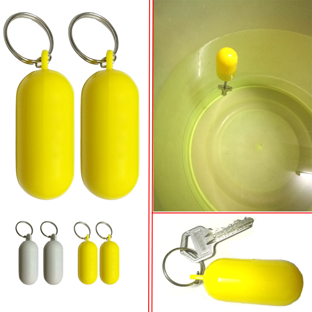 1/2PC Fender Canoe Kayak Floating Keyring Buoyant Key Ring Marine Sailing Boat Float Canal Keychain