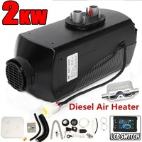 2KW black Single Hole Heater Air Parking Heater Rotary Switch LCD Switch and Digital Switch With Muffler Silencer