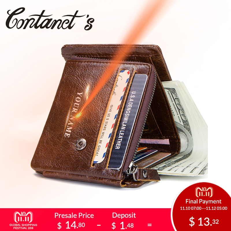 NEW Genuine Leather Organizer Wallets For Men Short Style Design Trifold Male Purse Photo Holder Wallet With Coin Pocket 2018 new design 100% leather genuine male wallets slim short men wallet with zipper coin purse pocket soft leather card holder wallet