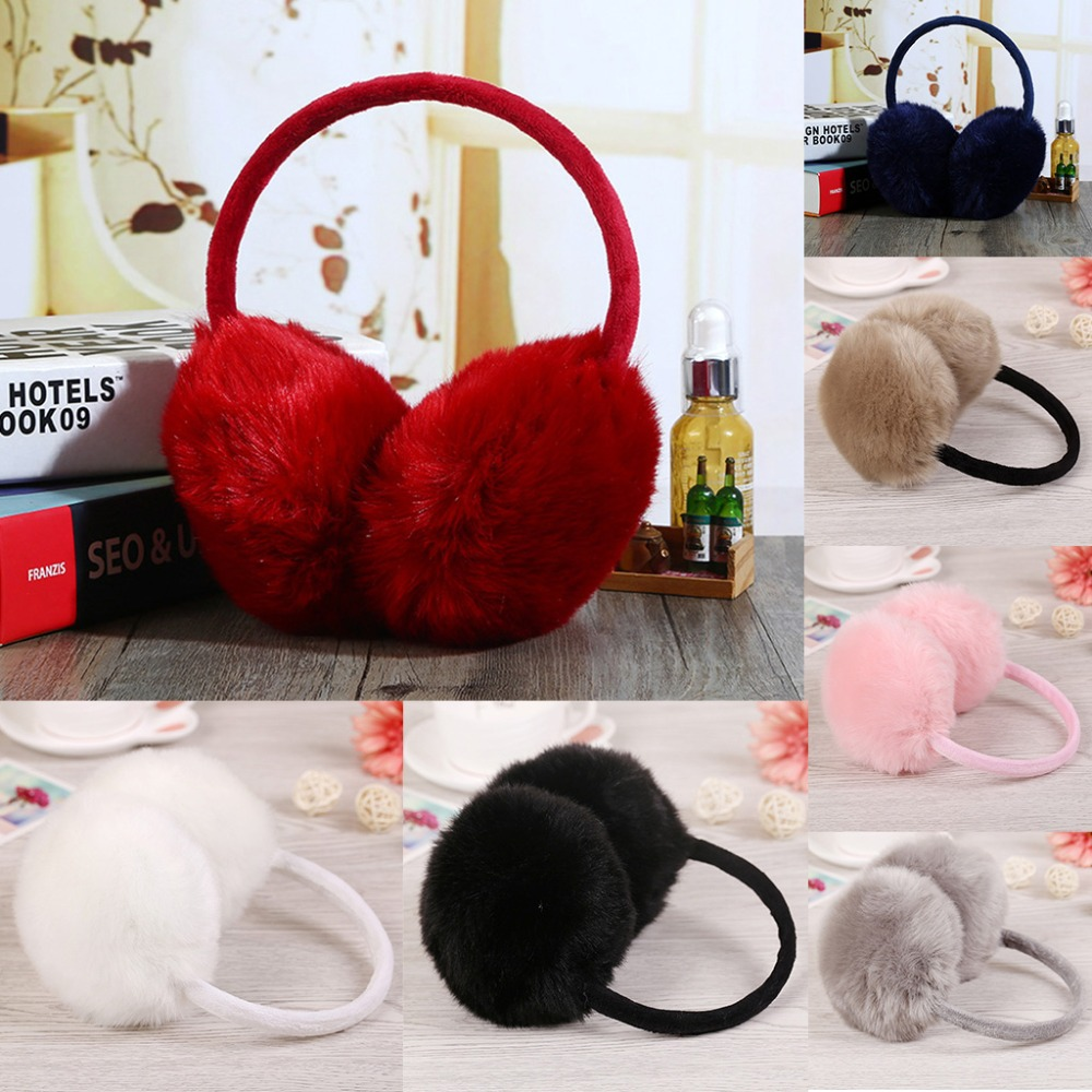 2020 Winter Earmuff Imitation Rabbit Women Fur Earmuffs Ear Warmers  Large Plush