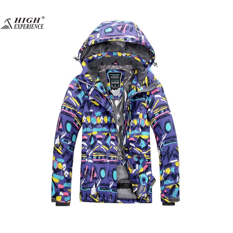 High Experience 2017 Ski Jacket Women Mountain Skiing Snowboard Clothing Snow Sport Winter Jackets For Ladies Warm Camping Coat women ski jacket waterproof snowboard jacket women winter coat snow skiing jackets outdoor sport warm snow wj066