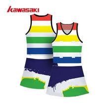 Perfessional Kawasaki пользовательские практики нетбол теннис платье сублимации радуга цвет дышащие женские спортивные рубашки для упражнений