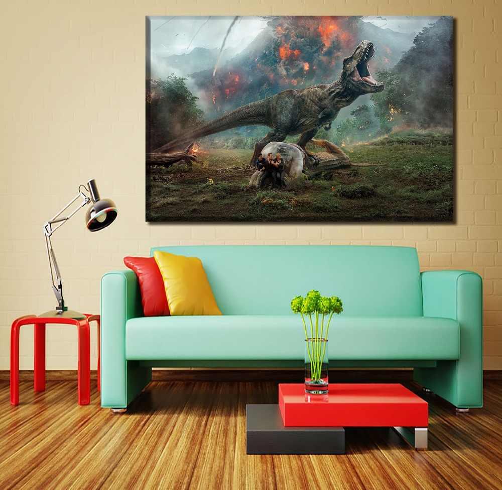 Impressões Pintura da lona Pictures Home Decor HD 1 Peça/4 Pcs Filme Jurassic Mundo Caído Reino 2018 Cartaz Parede arte Quadro